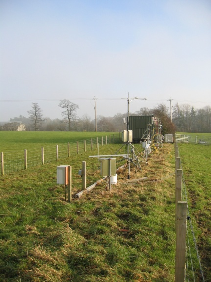 Measurement setup inbetween the north and south fields